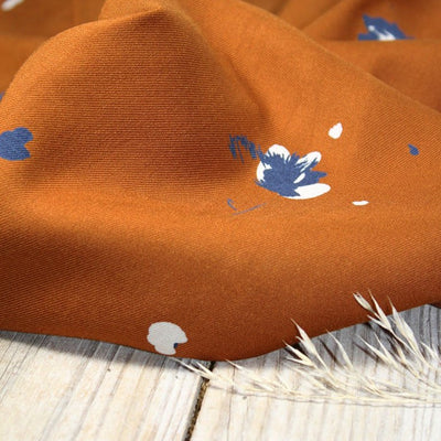 Windy Caramel Viscose Crepe Fabric by Eglantine et Zoe