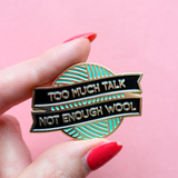 Not Enough Wool Pin by Crafty Pinup