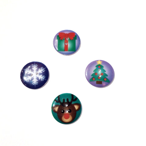 Cartoon Christmas Button