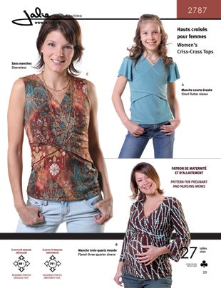 Criss-Cross Tops by Jalie Patterns