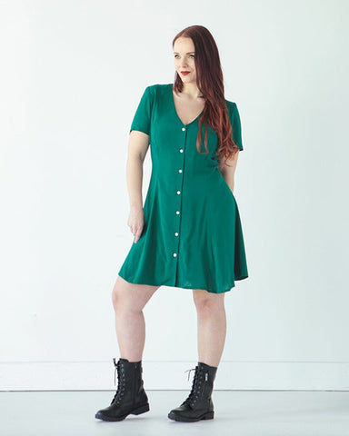 The Shelby Dress & Romper Pattern by True Bias