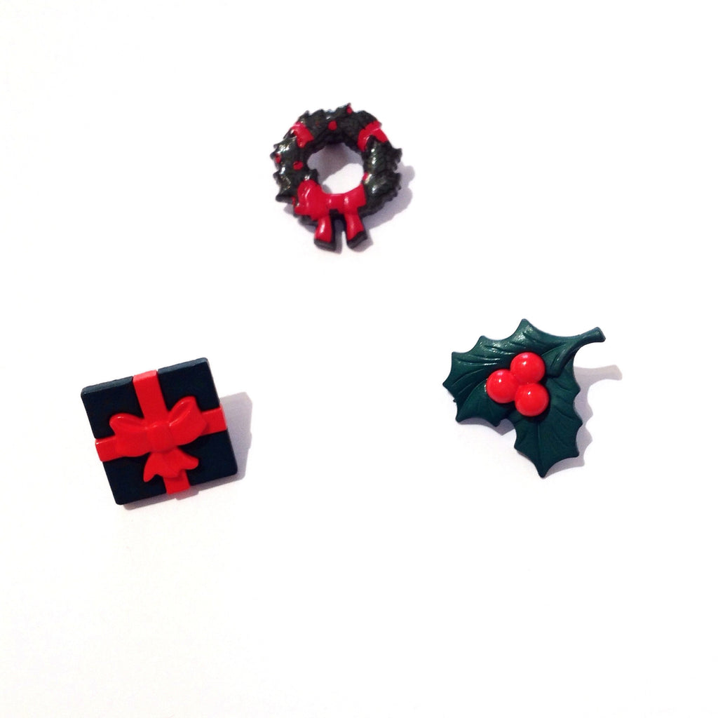 Green & Red Christmas Buttons