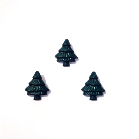 Green Christmas Tree Button