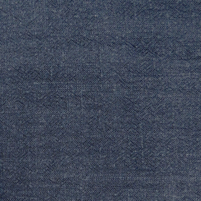 Navy Viscose Linen Slub Fabric