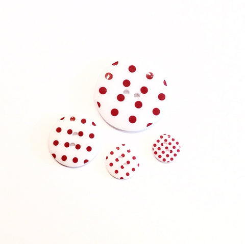 White-with-red-polka-dot-buttons