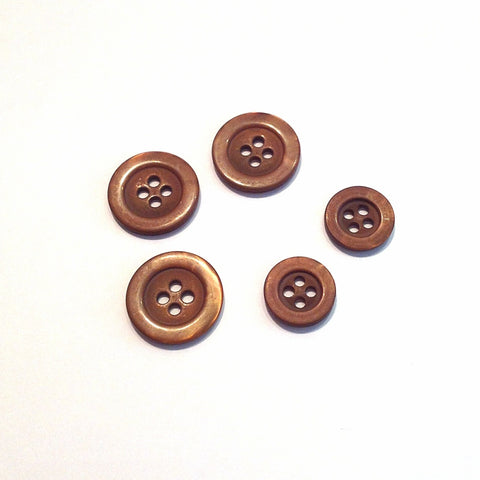 Brown-shiny-plastic-button
