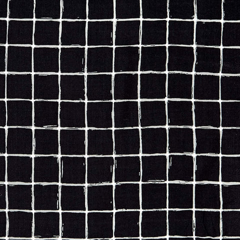 Grid Negative Rayon Fabric by Art Gallery