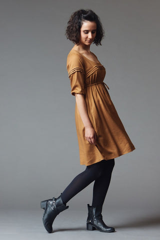 Aubepine dress pattern by Deer and Doe