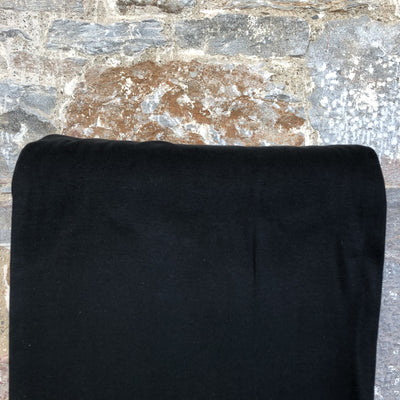 Jersey Ribbing GOTS fabric - Black