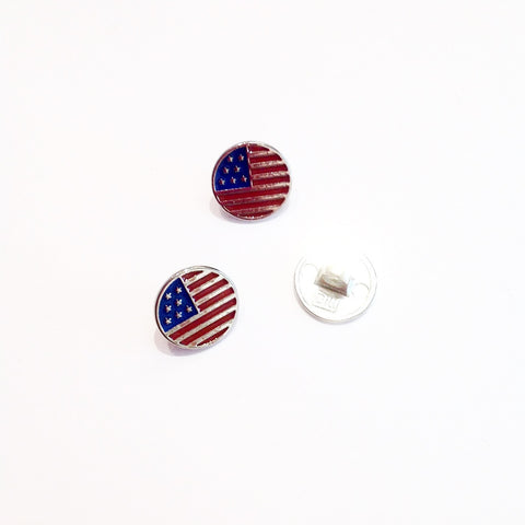 American Flag Shanked Button
