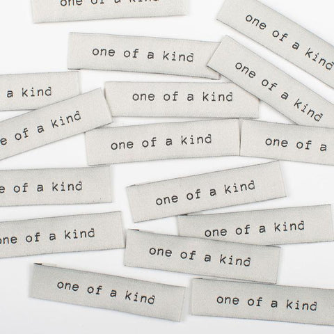 """One of a Kind"" Woven Labels by Kylie and the Machine"