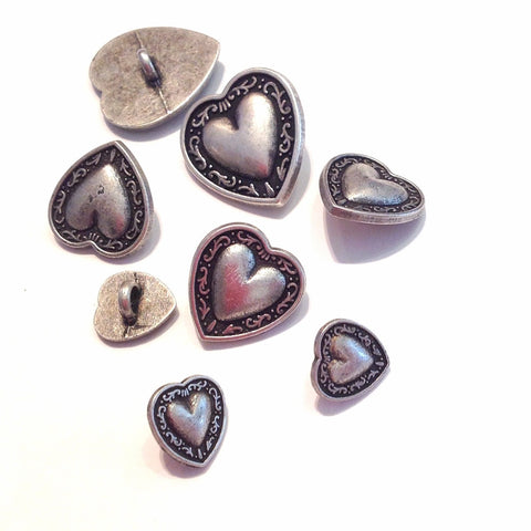 Heart-shaped-metal-shanked-button