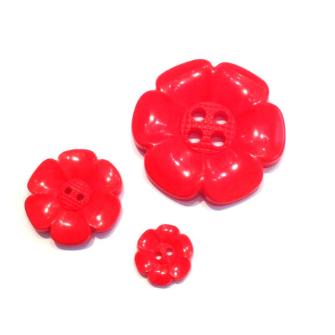 Red-flower-button
