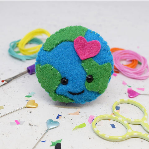Earth Love felt sewing kit by The Make Arcade