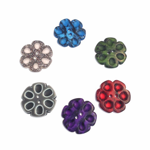 Flower Shaped Unusual Buttons