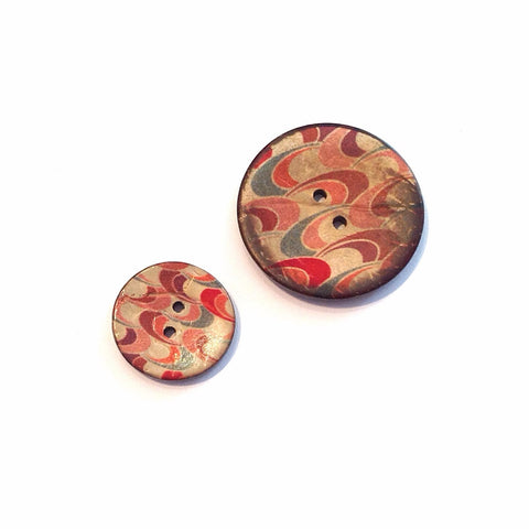 Wave-printed-coconut-shell-button