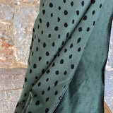 Scribble Dots Green Organic Soft Sweat Jersey by Poppy