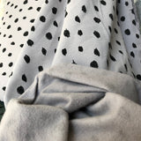 Scribble Dots Grey Organic Soft Sweat Jersey by Poppy