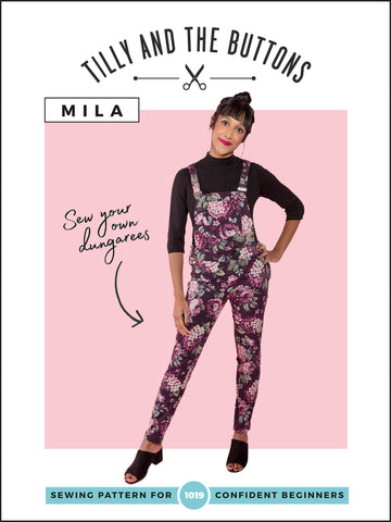 Mila Dungaree's Sewing pattern by Tilly and the Buttons
