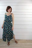 Stone Dark Green Viscose Twill by Eglantine and Zoe