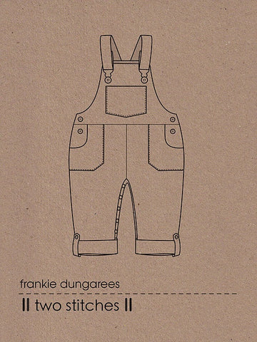 Frankie Dungarees by Two Stitches