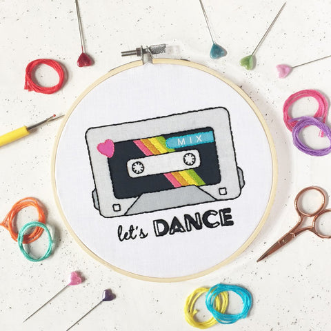 Let's Dance embroidery kit by The Make Arcade