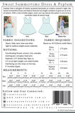 Sweet Summertime Peplum and Dress Pattern by Sew to Grow