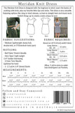 The Meridan Knit Dress Pattern by Sew to Grow