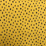 Scribble Dots Yellow Organic Soft Sweat Jersey By Poppy