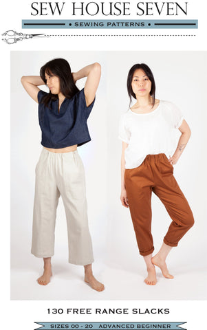 Free Range Slacks Pattern by Sew House Seven