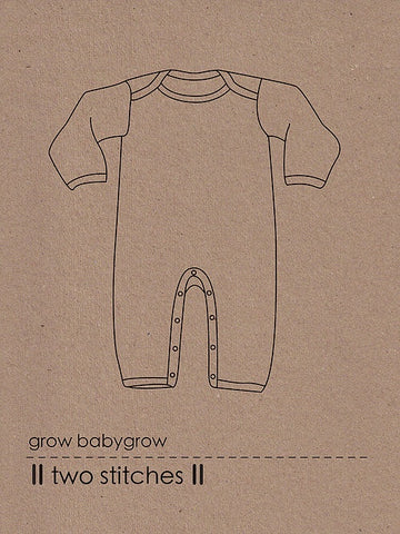 Grow Babygrow by Two Stitches