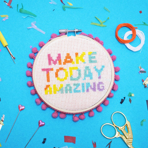 Make Today Amazing Cross Stitch Kit By The Make Arcade