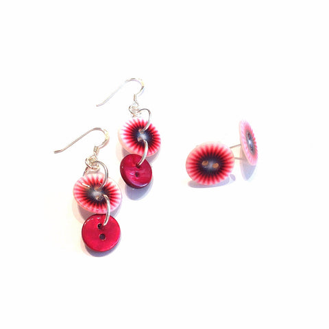 Firework Button Earrings