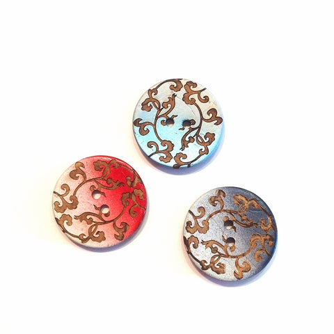 Ombré Detailed Coconut Shell Button