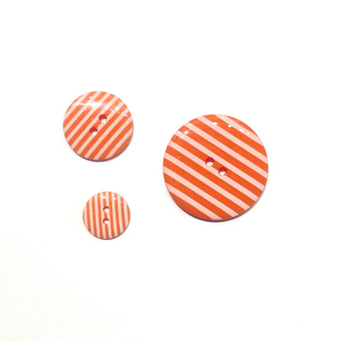 Orange Striped Buttons