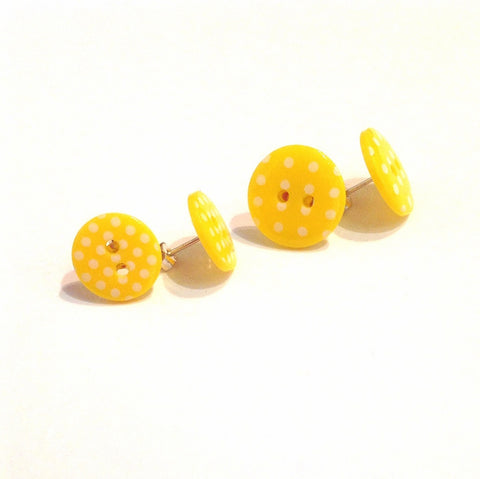 yellow-Charlotte-button-stud-earrings