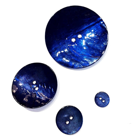 Navy Blue Painted Shell Buttons