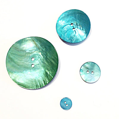 Turquoise-painted-shell-button