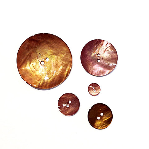 Brown Painted Shell Buttons