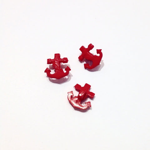 Red-Plastic-Anchor-shaped-Shanked-buttons