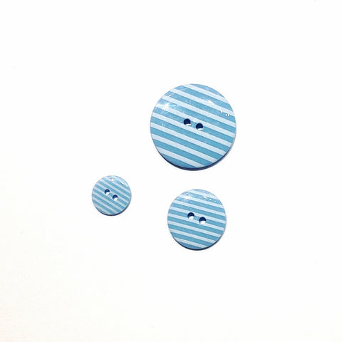 Pale Blue Striped Buttons