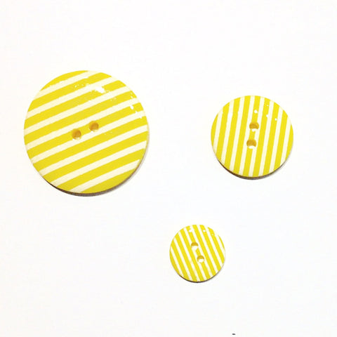 Yellow Striped Buttons