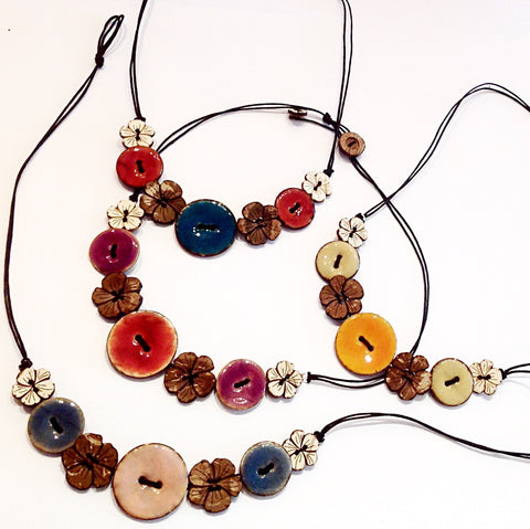 Helen Button Necklace
