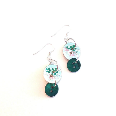 Anna-green-button-earrings-painted-shell-buttons