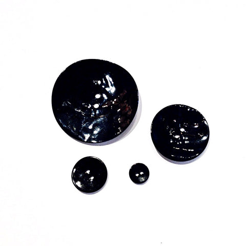 Black Painted Shell Buttons