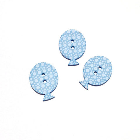 38mm-Blue-Plastic-Polka- dot-Balloon- Shaped- Buttons