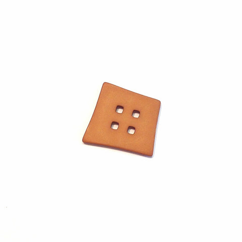 Brown-Big-plastic-abstract-square-Button