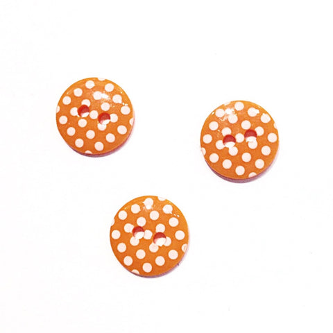 Orange Polka Dot Buttons