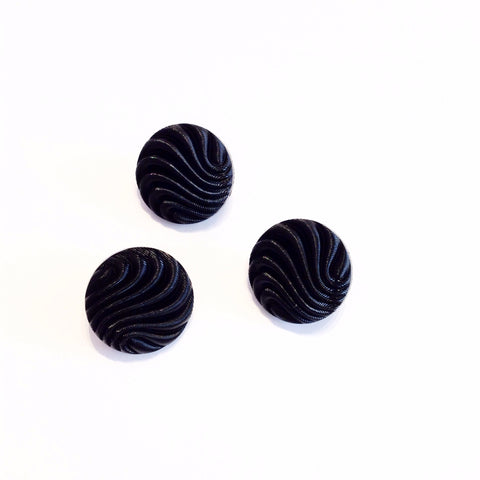 Vintage Wave Ridged Button