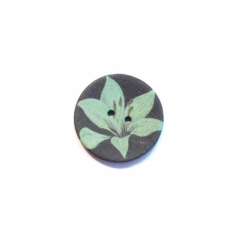 Orchid Coconut Shell Button